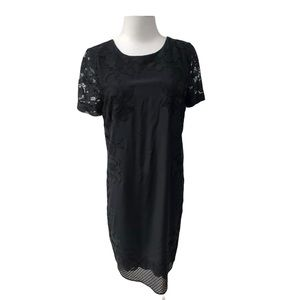 Diane Von Furstenberg Leighton Black Dress Size 8
